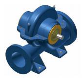 3D-Entwurf einer Pumpe
